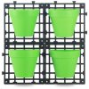 Závěsný systém Tornadica Delimano Grow Wall + 4 truhlíky, zelené