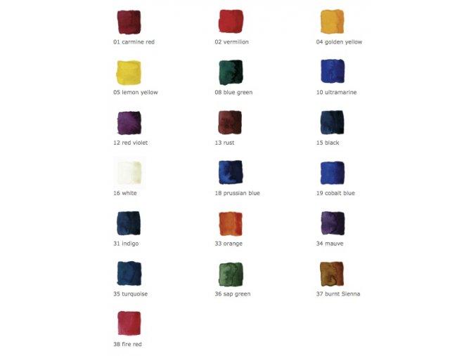 Akvarel - 50 ml samostatně - různé barvy
