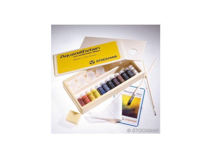 Akvarel - sada v dřevěné krabičce - 12x20ml