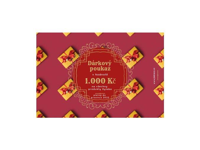 Dárkový certifikát darecky v 1000