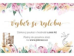 Dárkový certifikát kvety v 1000