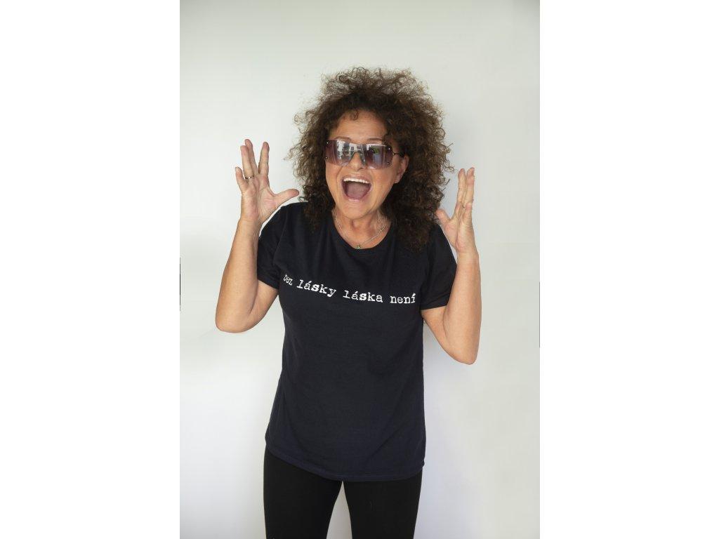 bez lásky láska není, tričko dámské černé