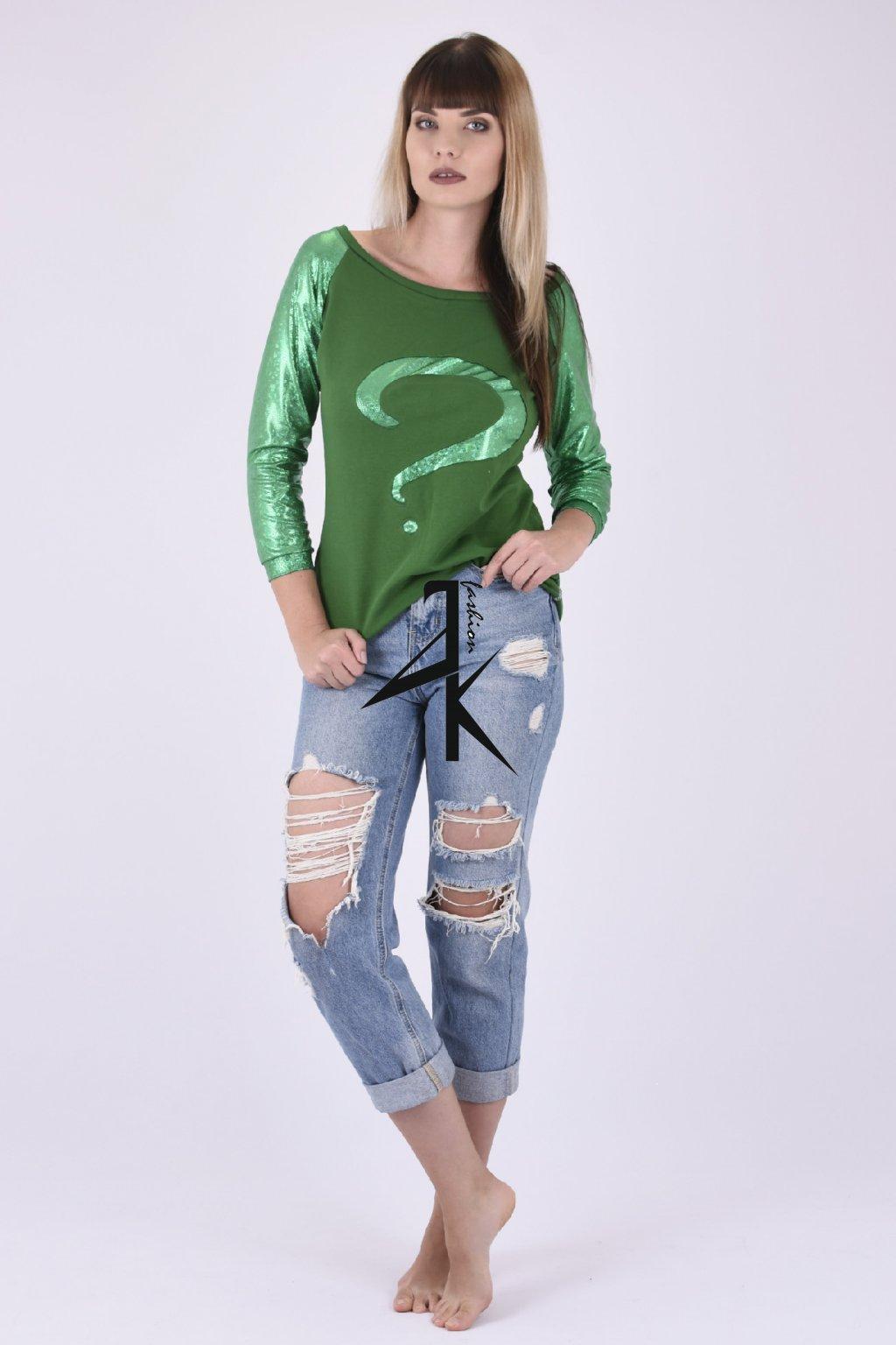 damske mikina zelena otaznik 1