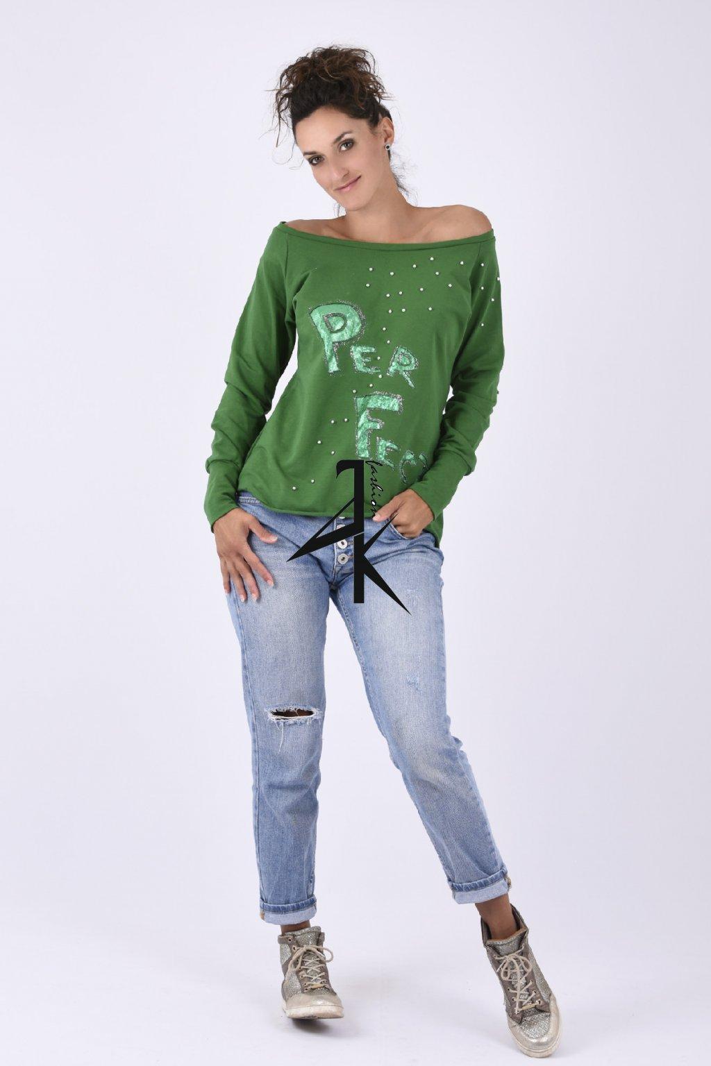 damske mikina zelena perfekt
