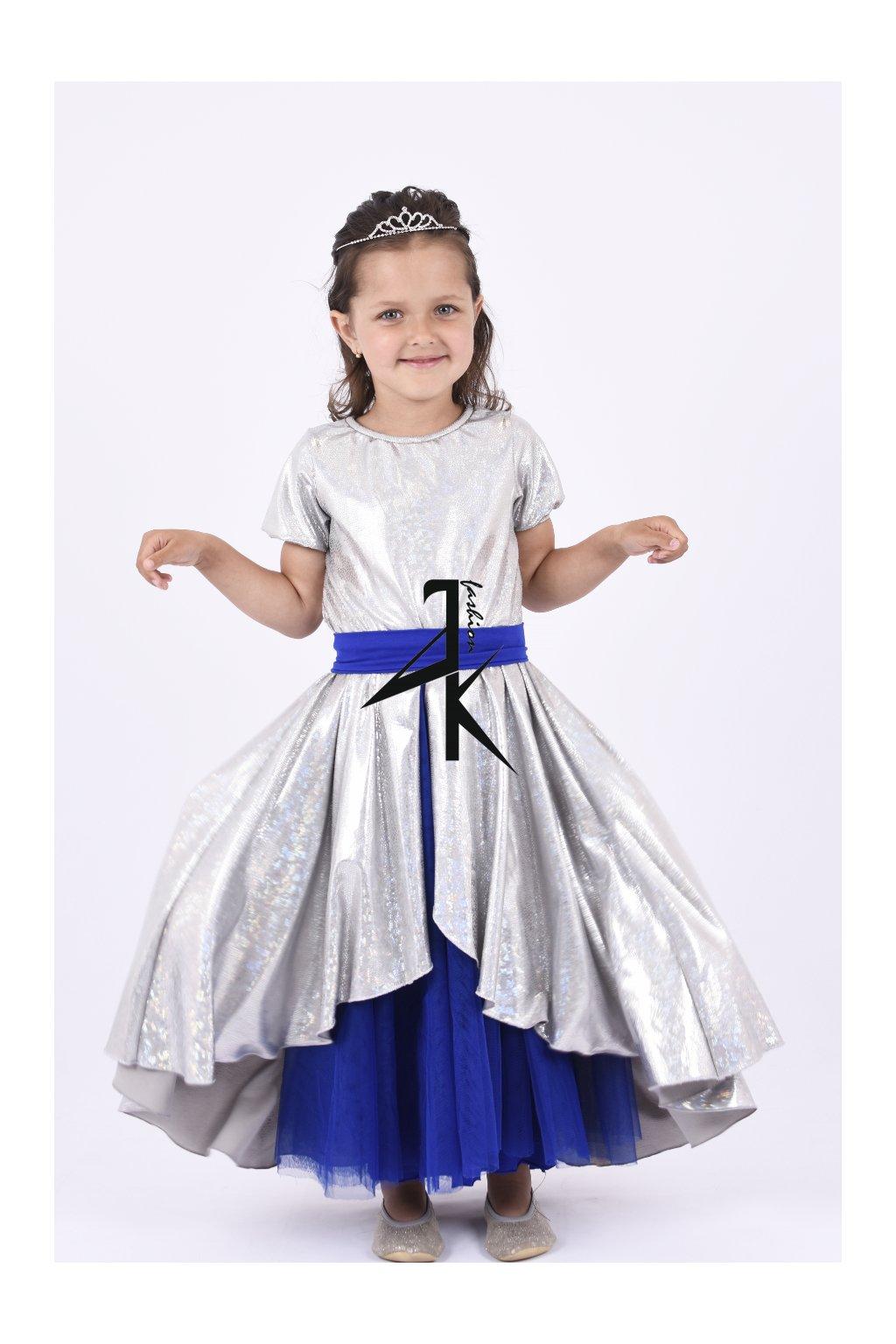 Princeznovské šaty silver