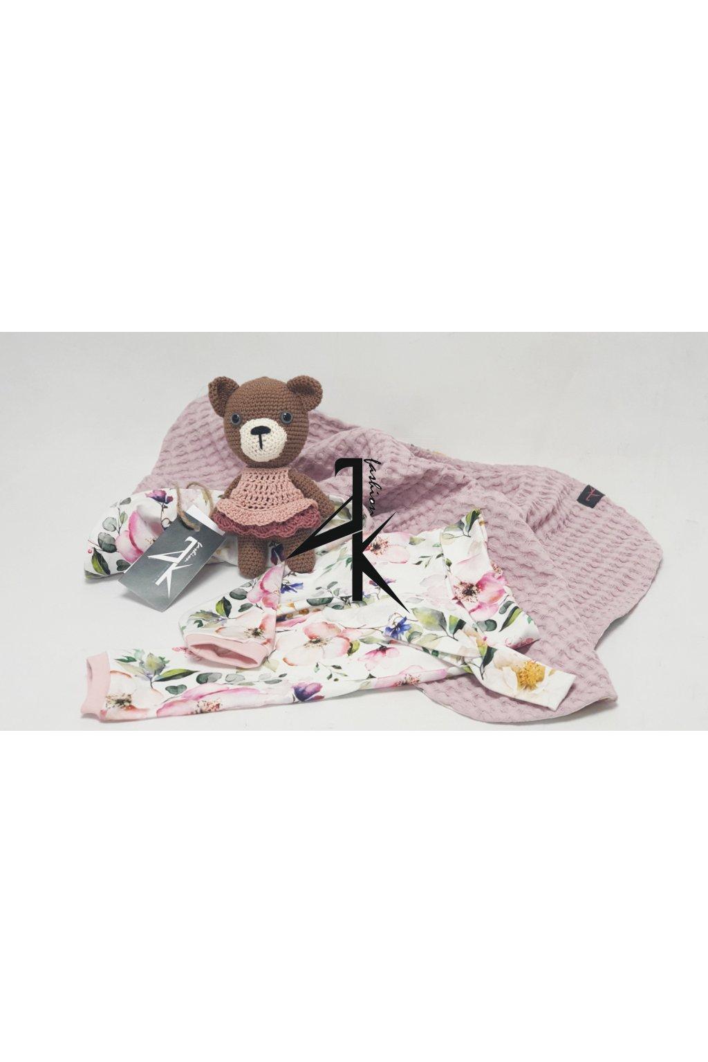 dekorace deky medvidek holka vafle