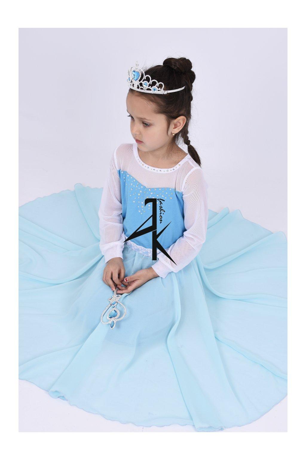 Holčičí princeznovské šaty na zakázku blue