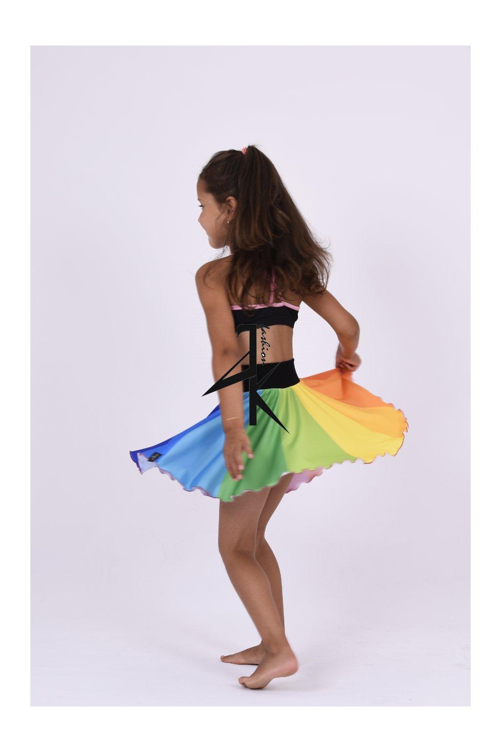Holčičí točivá sukně rainbow