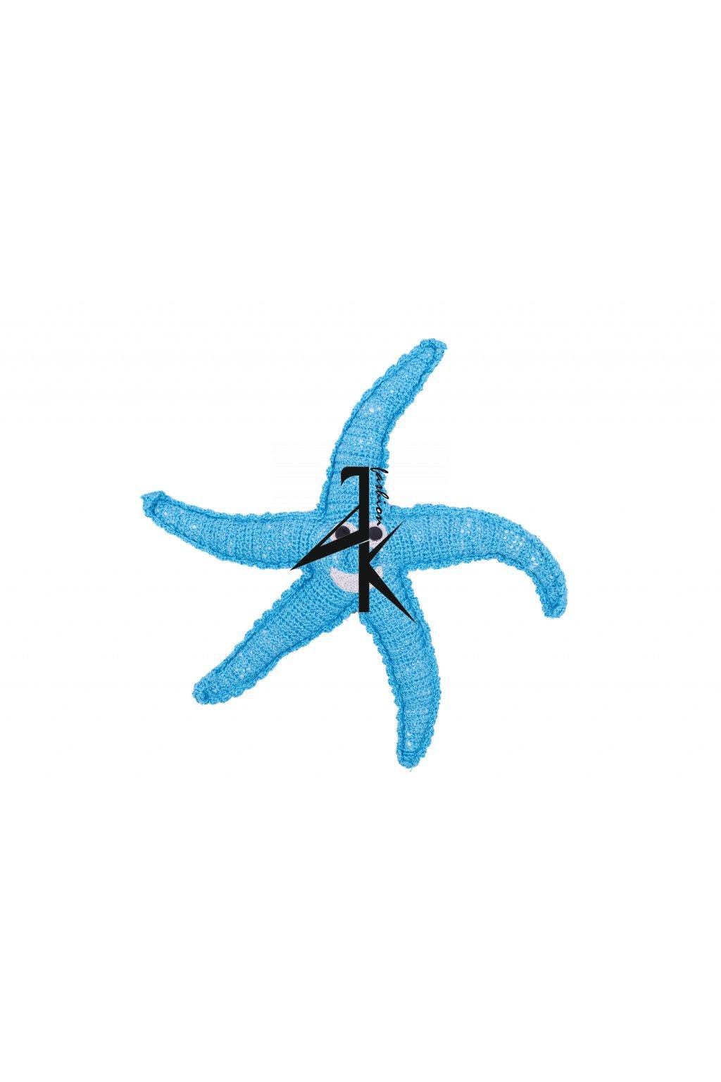 dekorace hracky hackovana hvezda modra 11105824