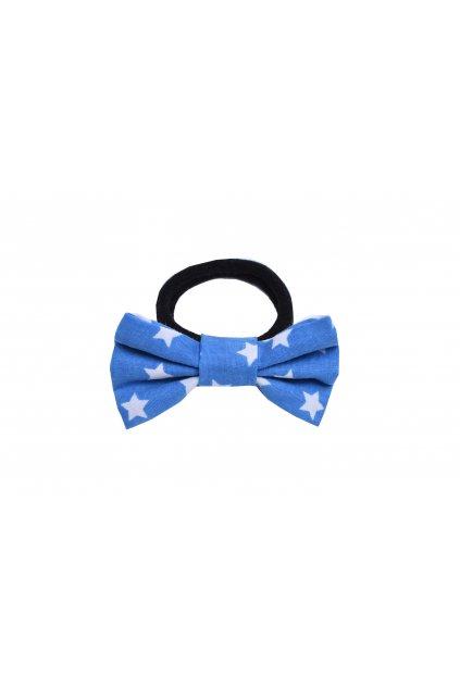 sponky do vlasu gumicka modra hvezdy