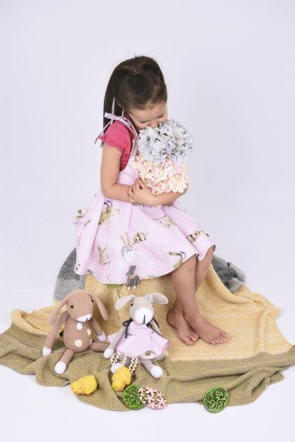 dětský háčkovaný zajíček
