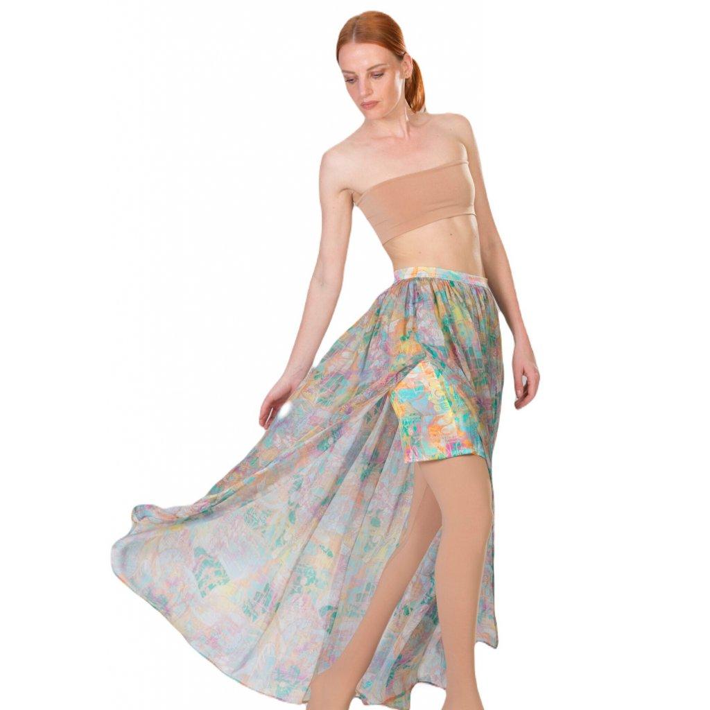Dlouhá hedvábná sukně TERRA