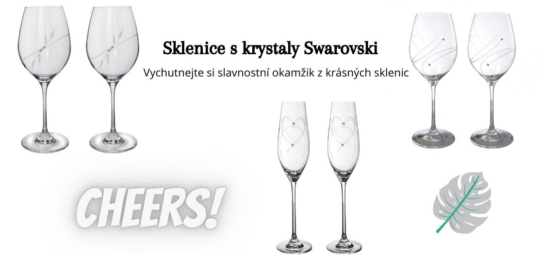 Sklenice s krystaly Swarovski
