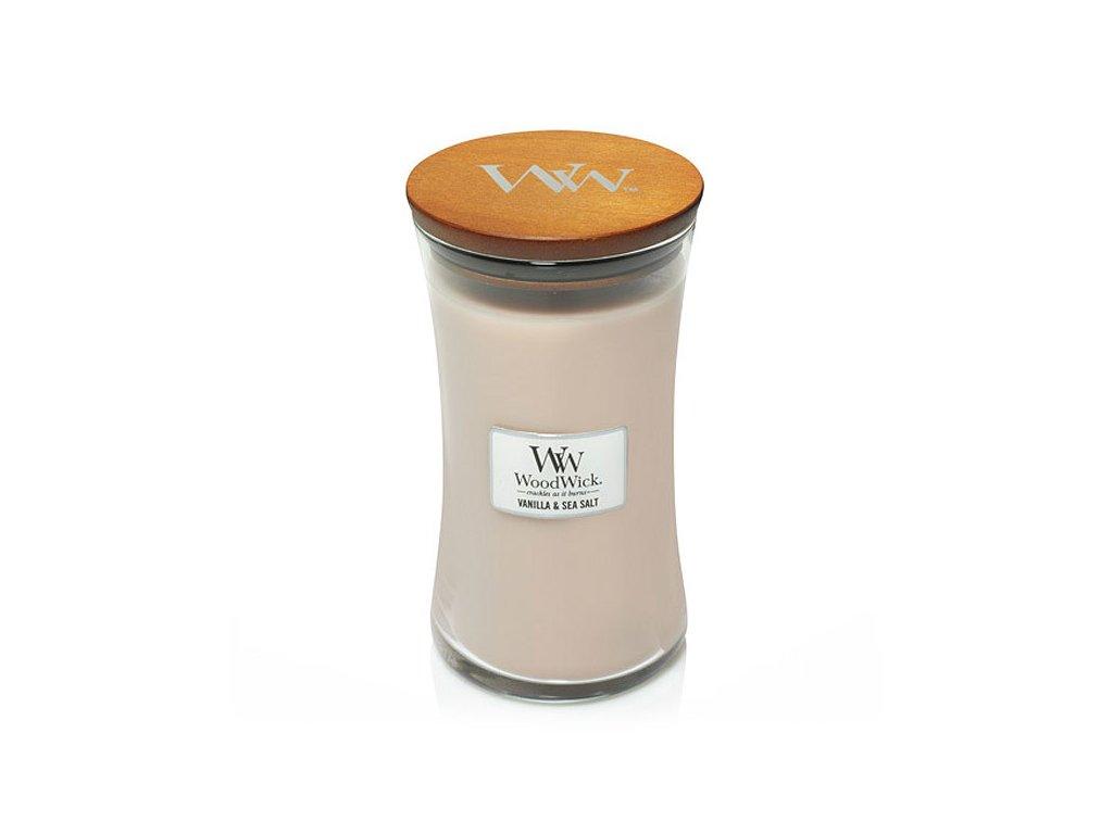 WoodWick vonná svíčka VANILLA & SEA SALT