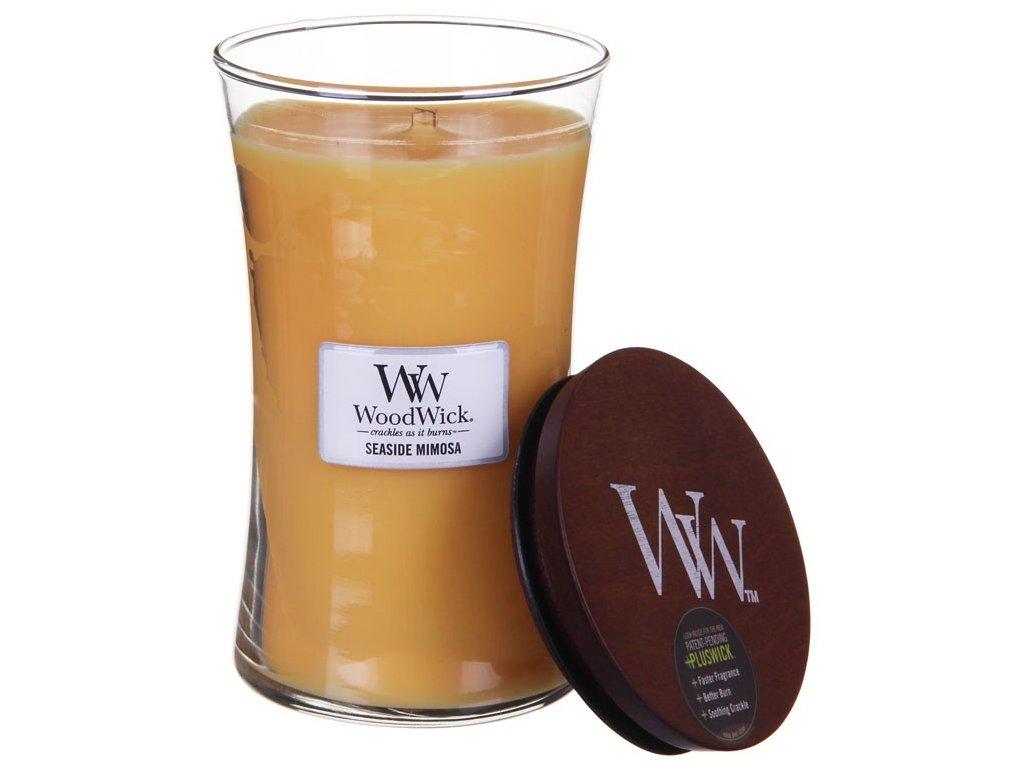 WoodWick vonná svíčka sklo velké SEASIDE MIMOSA