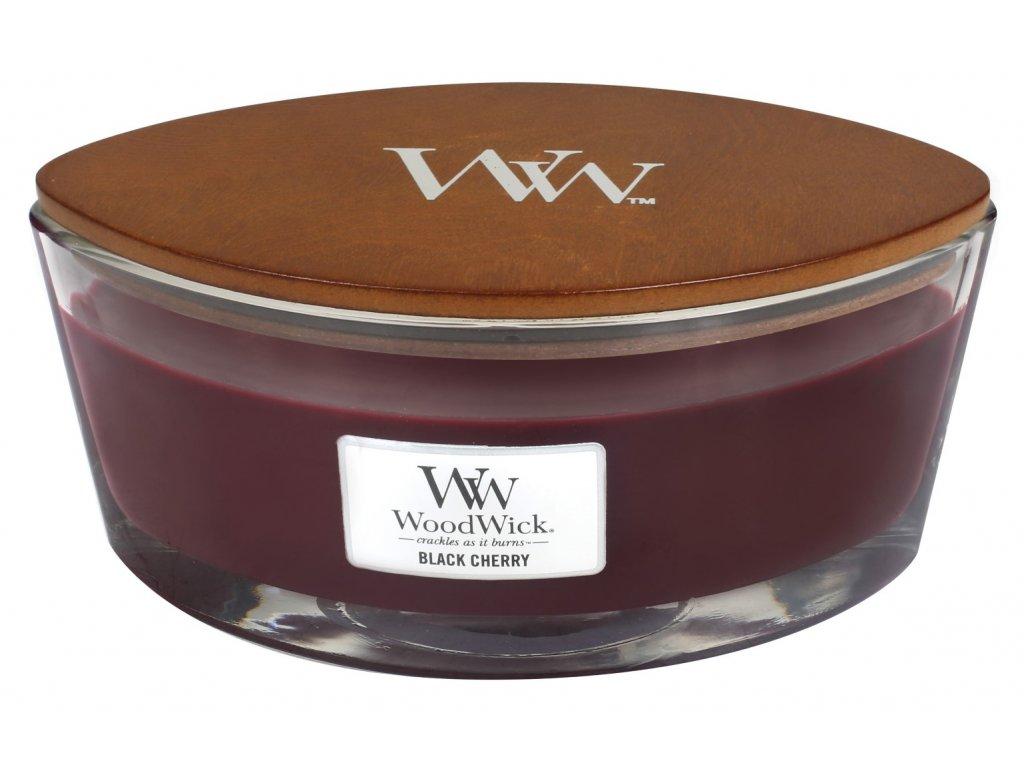 WoodWick vonná svíčka loď Black Cherry