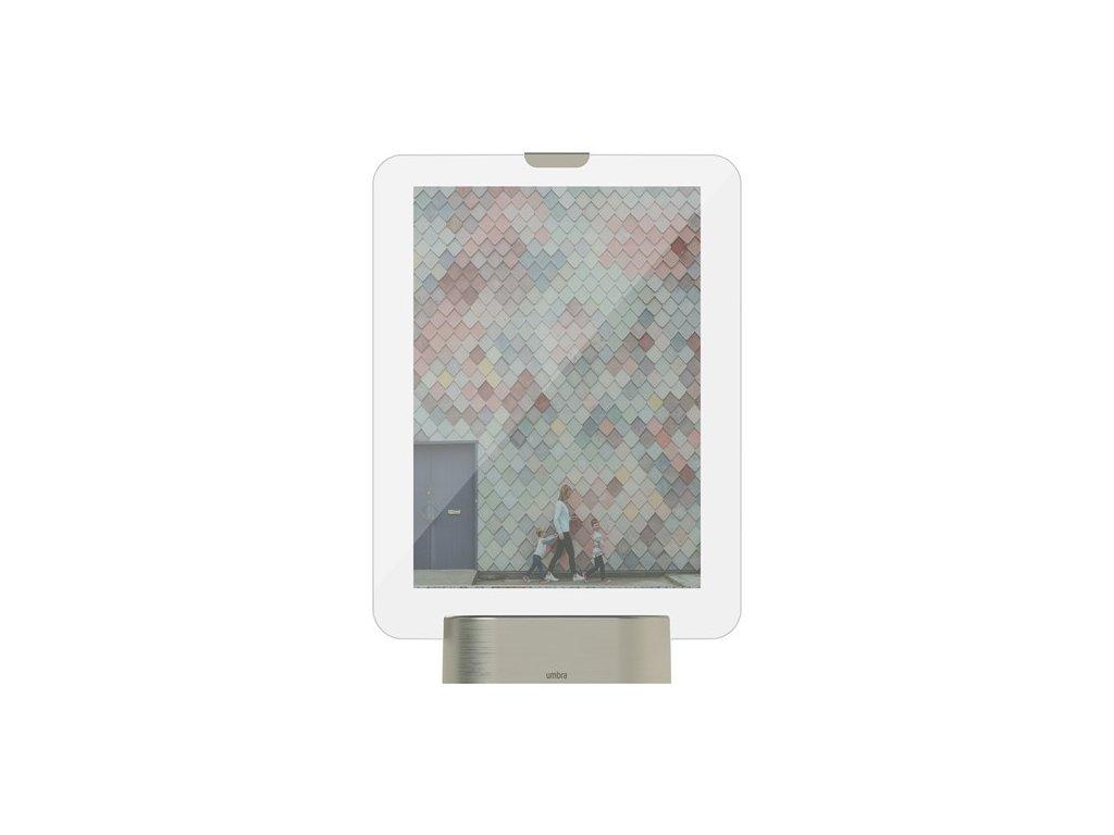 LED fotorámeček GLO 10 x 15 cm sklo,nikl Umbra