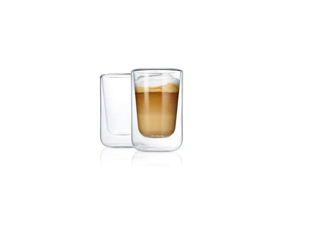 Termo sklenice NERO set 2 ks na cappuccino Blomus