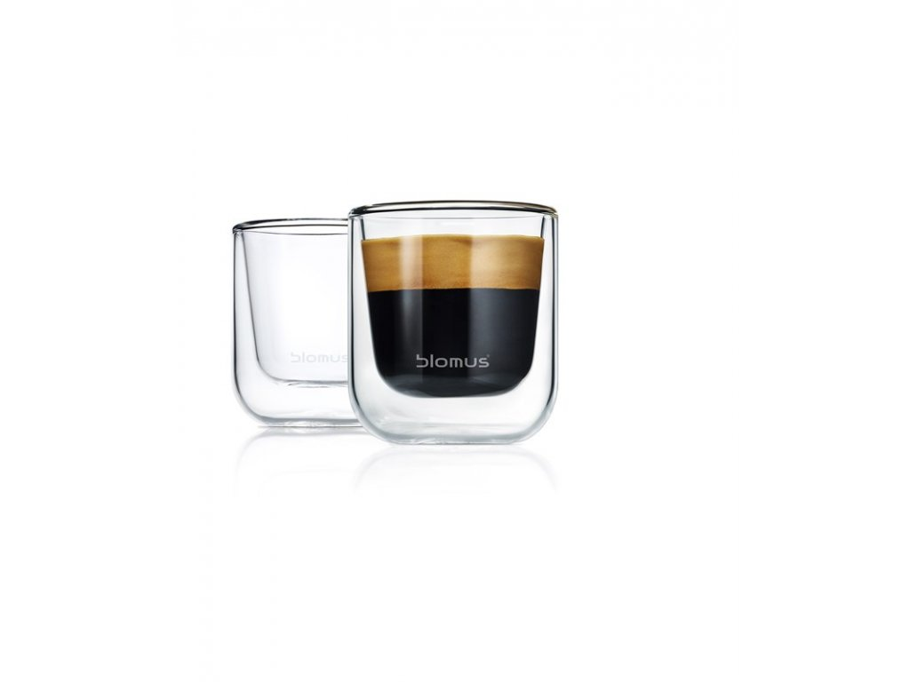 Termo sklenice NERO set 2 ks na espresso BLOMUS