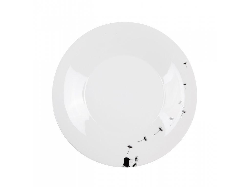 Porcelánový plýtký talíř FLY p. 27 cm By Inspire