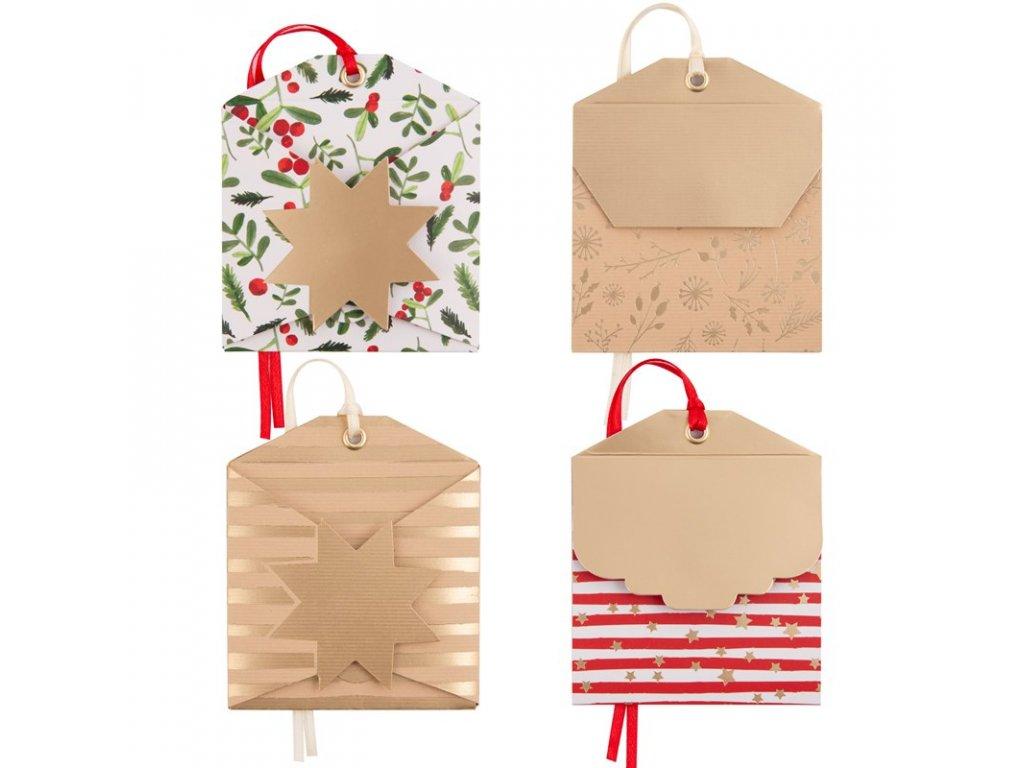 Dárková obálka přání vánoční, malé mix Artebene