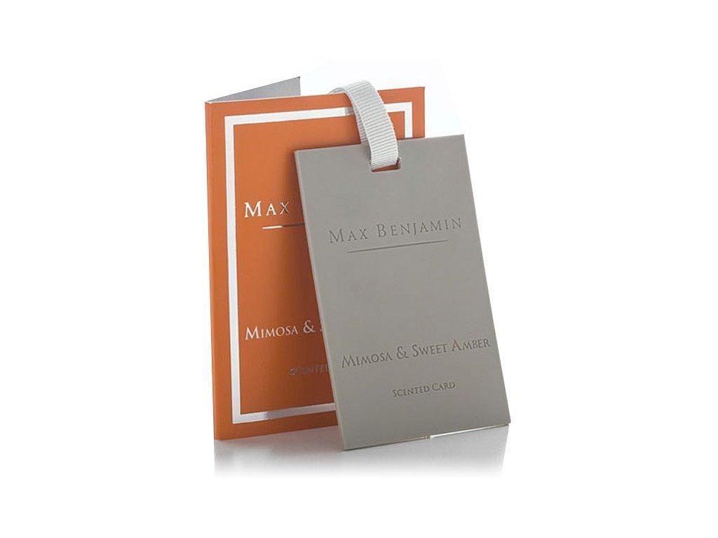 Vonná karta Classic Mimosa & Sweet Amber MAX BENJAMIN