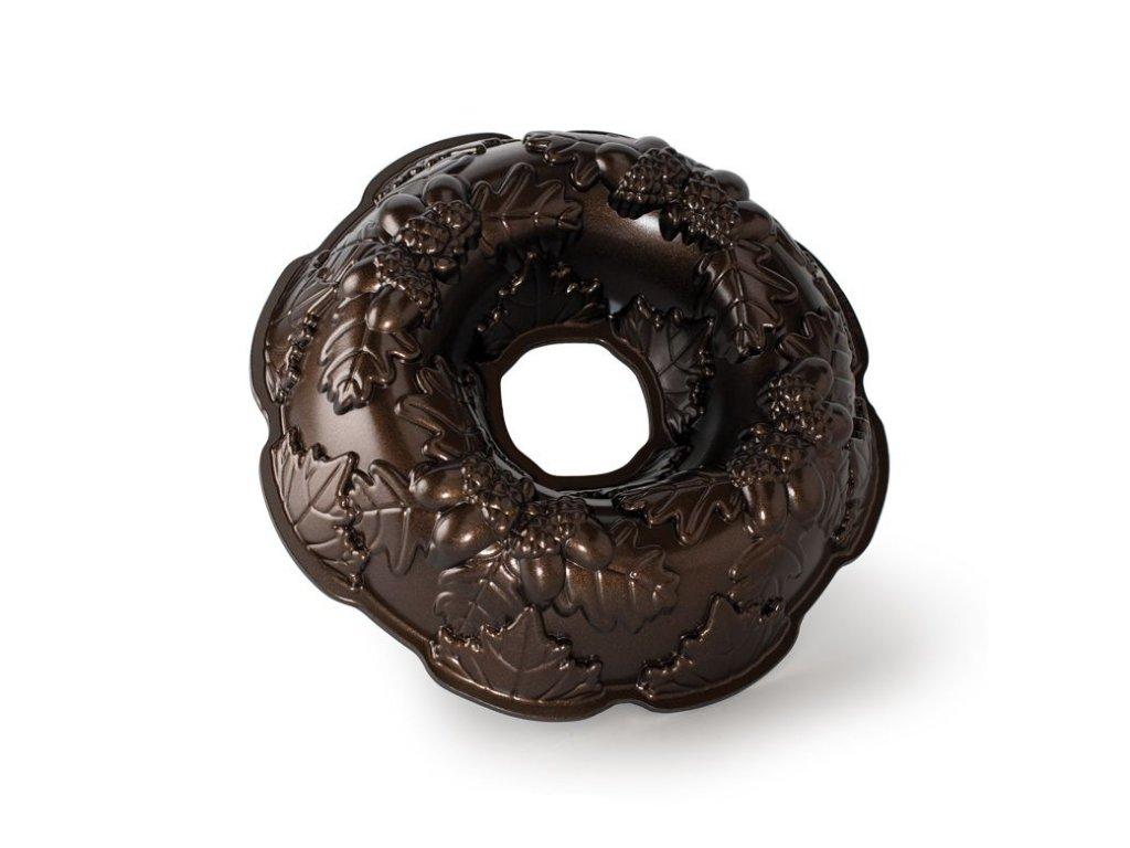 Forma na bábovku Podzimní věnec 10 cup, bronzová Nordic Ware