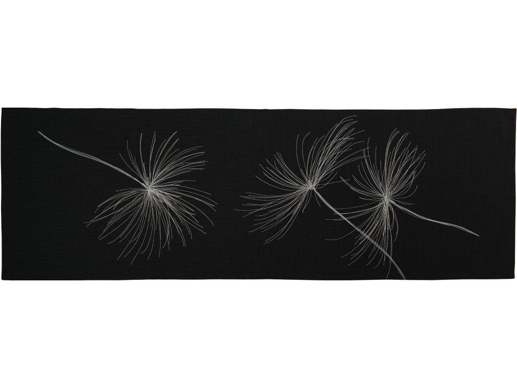 Středový pás WHITE BLOW 38 x 85 cm, černý Sander