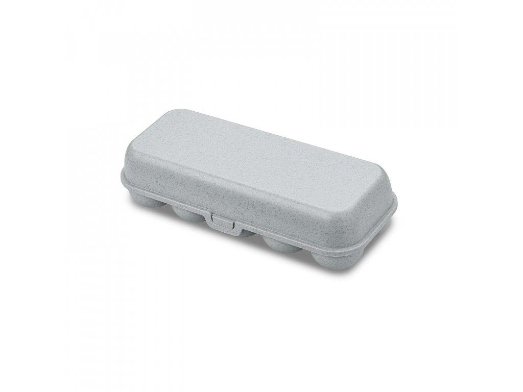 Box na vajíčka EGG ORGANIC, šedý Koziol