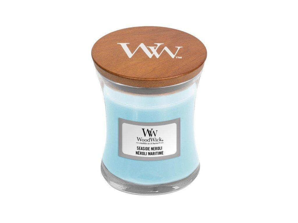 WoodWick vonná svíčka sklo malé SEASIDE NEROLI, 85 g