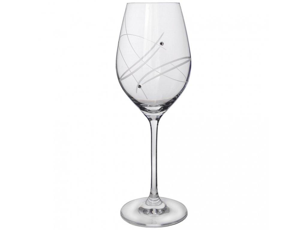 Sklenice na víno 360 ml s krystaly Swarovski 2ks, sada 6 ks