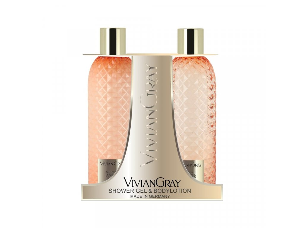 Kosmetická sada sprchový gel + tělové mléko, Neroli & Amber Vivian Gray
