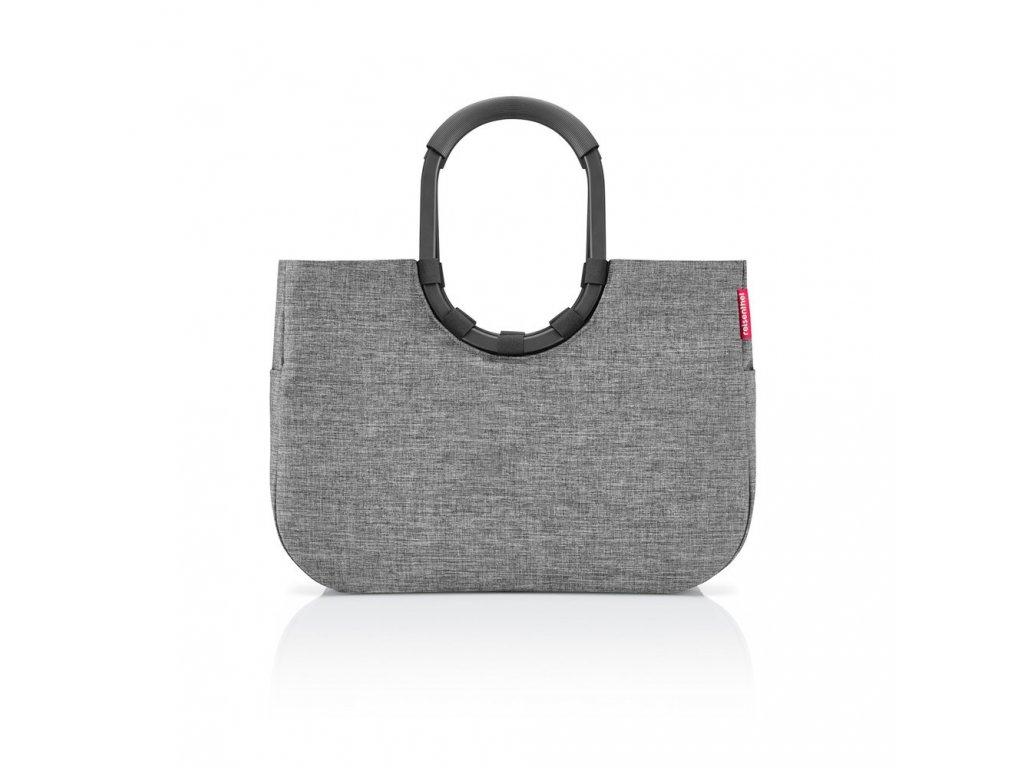 Nákupní taška LOOPSHOPPER L frame twist silver, Reisenthel