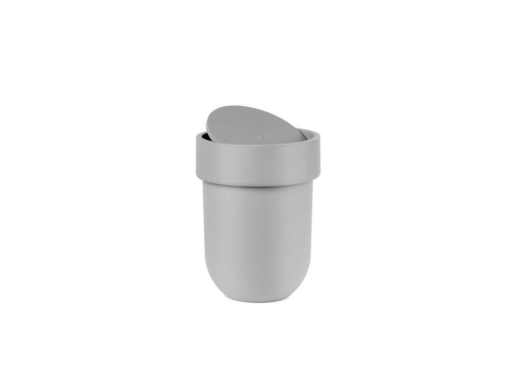 Odpadkový koš TOUCH s víkem, šedý UMBRA