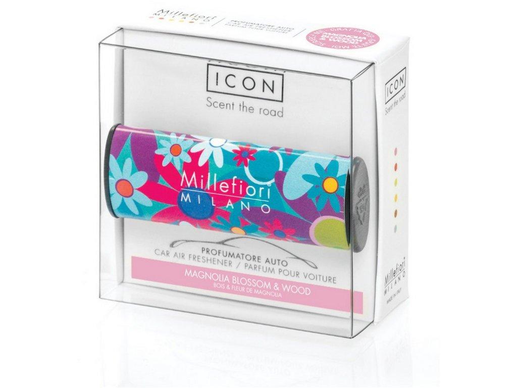Millefiori Icon vůně do auta Magnolia Blossom & Wood, Cuori & Fiori