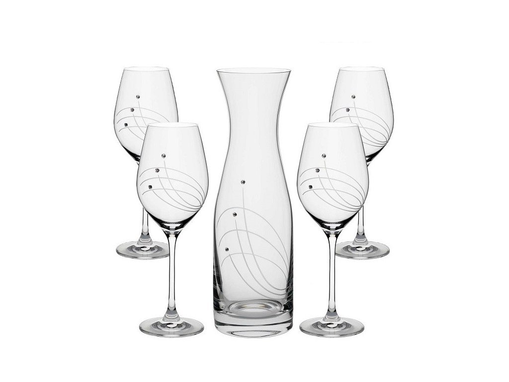 Swarovski VITAL set na víno, 1+4