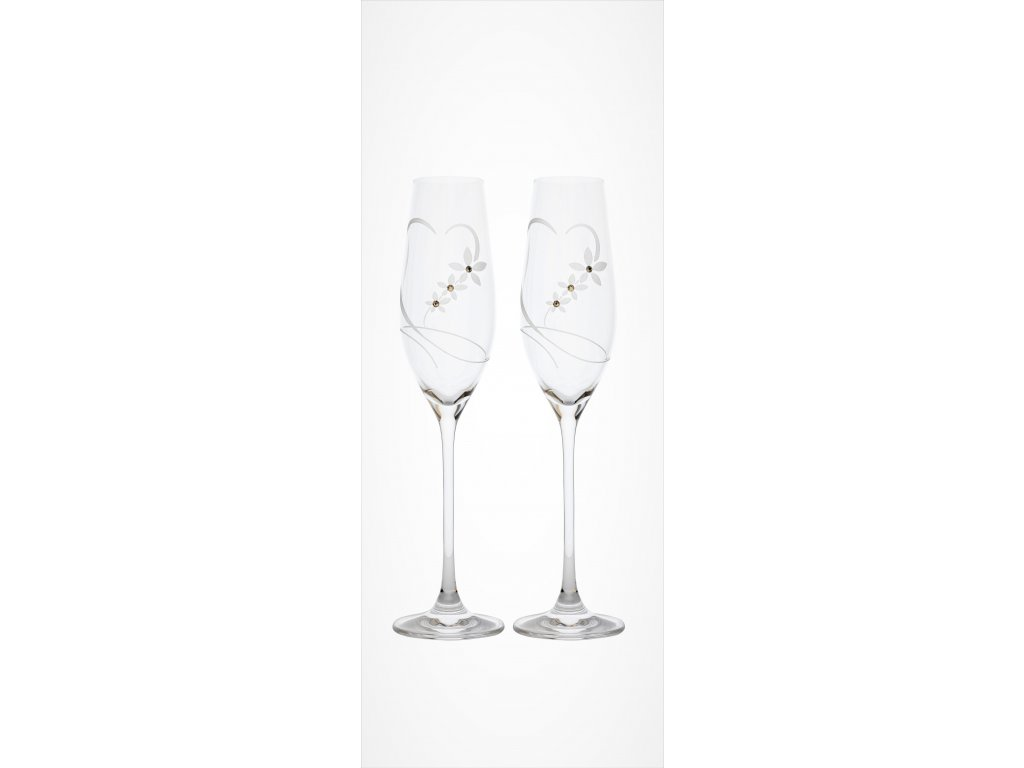 Swarovski Celebration sklenice na sekt srdce set 2 ks, 210 ml