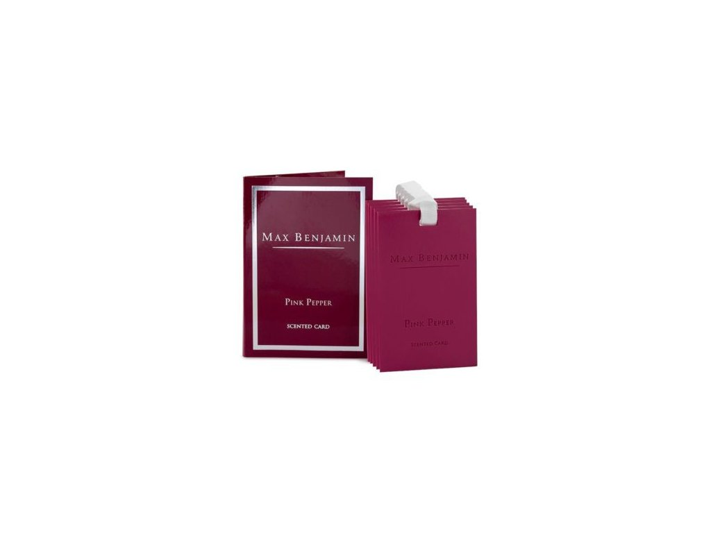 MAX BENJAMIN vonná karta Pink Pepper, set 5 ks