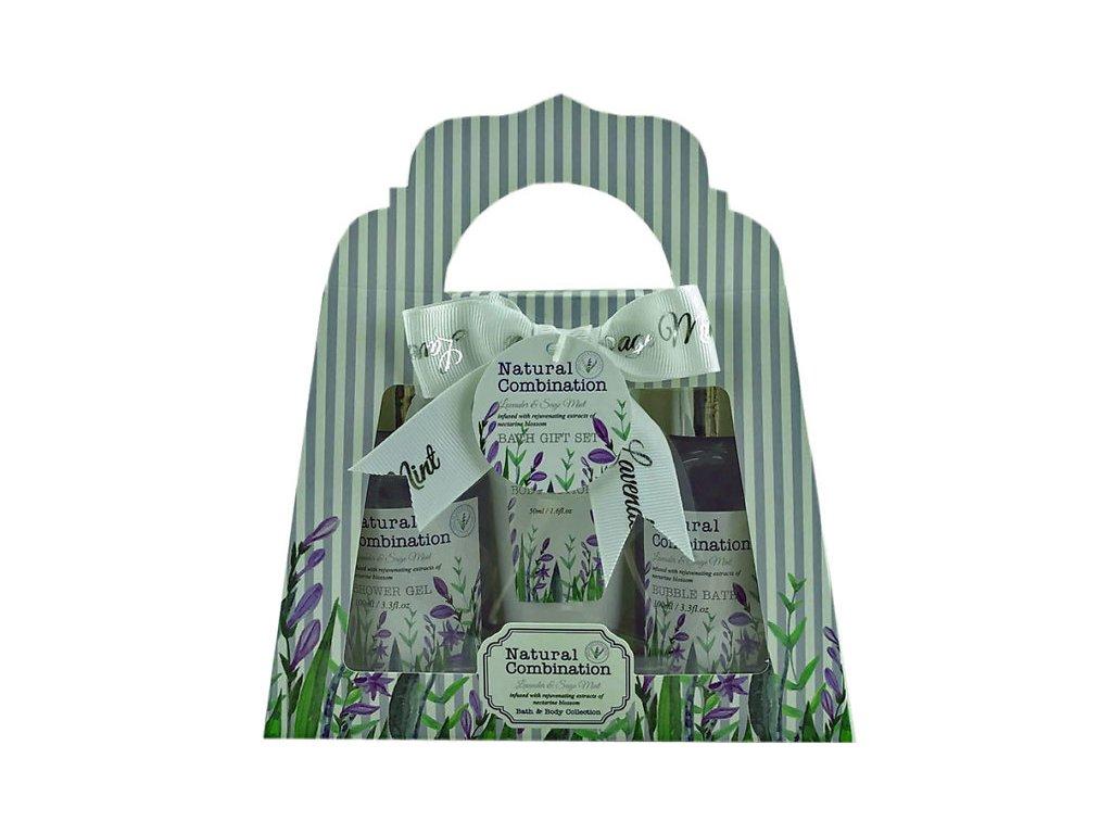 Salsa Collection dárková sada Lavender & Sage Mint, 3 dílná