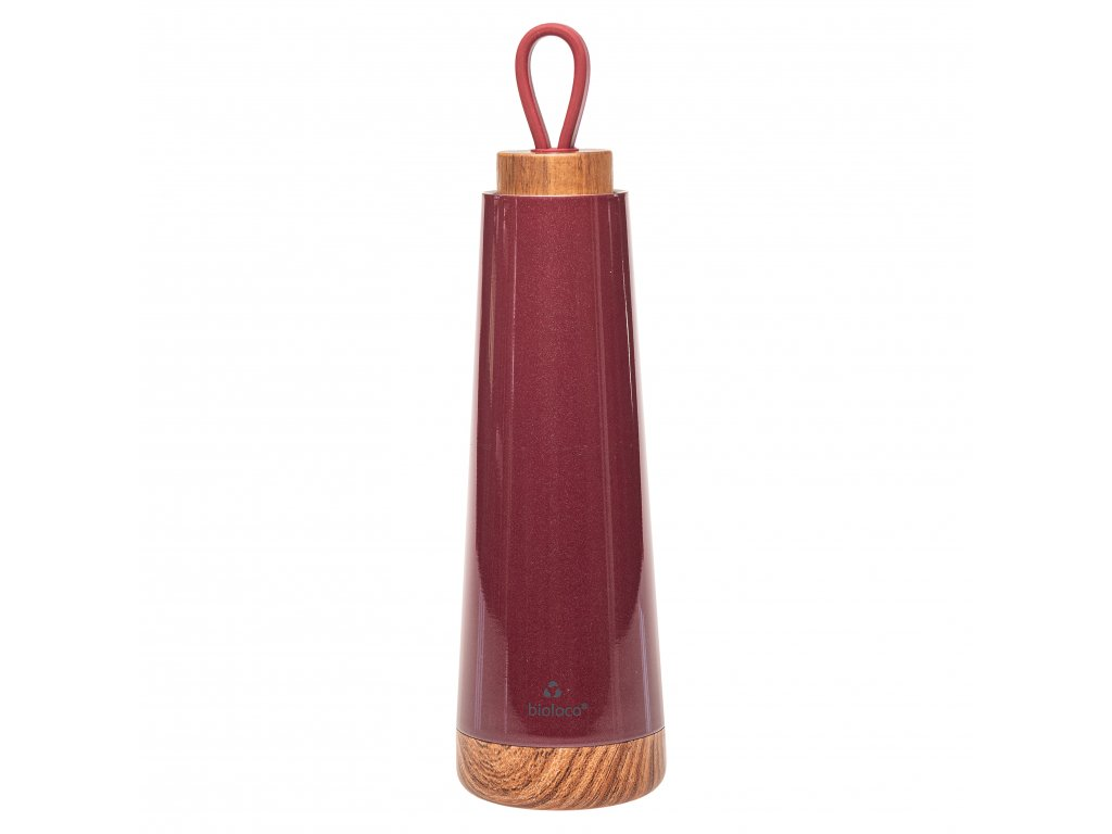 Chic.Mic termoláhev Bioloco loop, Berry red 500 ml