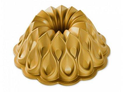Forma na bábovku CROWN 10 cup zlatá Nordic Ware