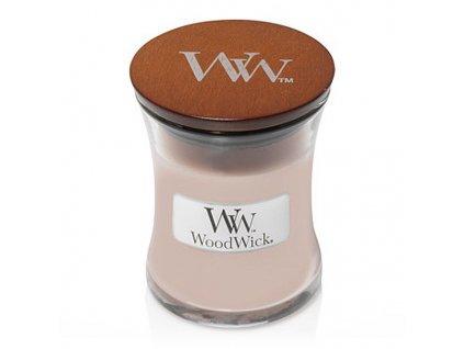 WoodWick vonná svíčka sklo malé VANILLA & SEA SALT