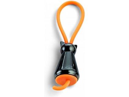 Přívěšek na klíče KOČKA černá Philippi