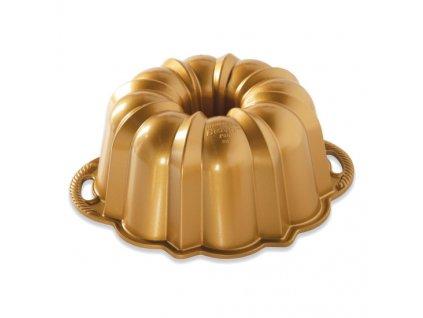 Forma na bábovku ANNIVERSARY velká zlatá 12 cup Nordic Ware