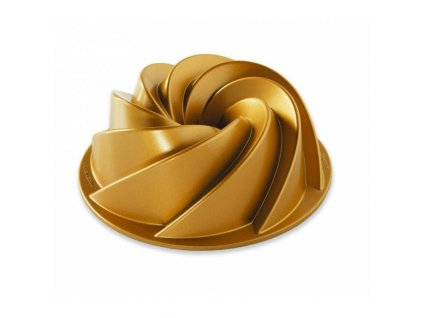 Forma na bábovku HERITAGE 6 cup zlatá Nordic Ware