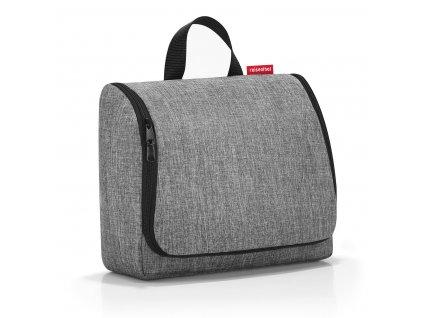 Kosmetická taška TOILETBAG XL 28 x 25 cm twist silver Reisenthel