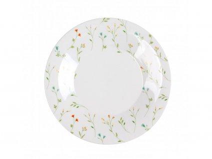 Porcelánový mělký talíř BOTANIC 27 cm by inspire