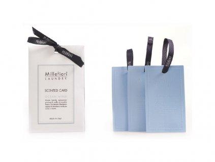 Vonná karta Laundry Ocean Wind set 3 ks Millefiori