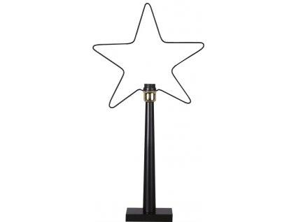 Dekorační hvězda na podstavci RAMSVIK černá Star Trading