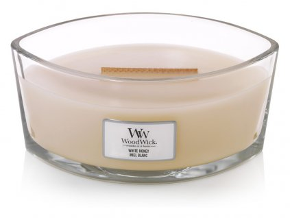WoodWick vonná svíčka loď WHITE HONEY 453 g